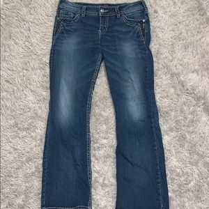 Size W31/L31 Maurices brand bootcut silver jeans